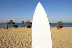 Summer Bulgaria Surfboard Sand Royalty Free Stock Photography