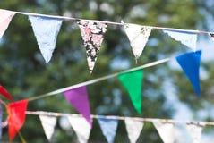 Summer Bunting. Summer chintz bunting hanging Royalty Free Stock Photography