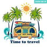 summer bus royalty free stock photography
