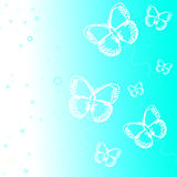Summer butterflies background Stock Photo