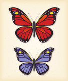Summer butterfly vector set Stock Photo