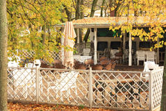 Summer cafe in autumn Royalty Free Stock Photography