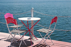 Summer Cafe,The Marmara Sea,Turkey Royalty Free Stock Photography