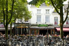 Summer cafe, the Netherlands Royalty Free Stock Photography
