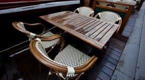 Summer cafe after rain Stock Photos