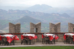 Summer cafe in San Marino Stock Images