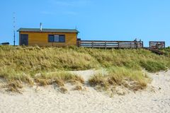 Summer cafe on the shore of the Baltic sea Stock Photography