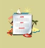 Summer calendar Royalty Free Stock Photos