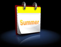 Summer calendar Stock Image