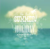 Summer calligraphic design ( format) Stock Images