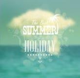 Summer calligraphic design ( format) Stock Images