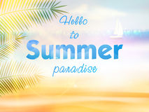 Summer calligraphic design. Royalty Free Stock Image