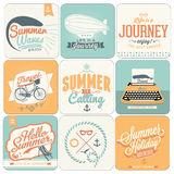 Summer calligraphic designs backgrounds Stock Photo