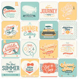 Summer calligraphic designs backgrounds Royalty Free Stock Images
