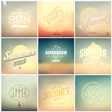 Summer calligraphic designs backgrounds Stock Images