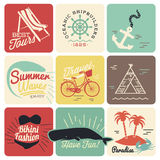 Summer calligraphic designs backgrounds Royalty Free Stock Image