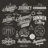 Summer calligraphic designs Royalty Free Stock Photo