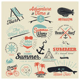 Summer calligraphic designs Royalty Free Stock Photography