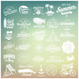Summer calligraphic designs Royalty Free Stock Photos