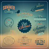 Summer calligraphic designs set Stock Photo