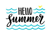 Summer Calligraphic Lettering Stock Image
