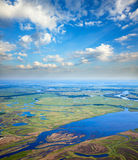 Summer calm day on the plain river Royalty Free Stock Photo