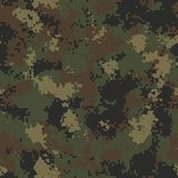 Summer Camouflage. Seamless Tileable Texture. Royalty Free Stock Image