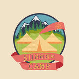 Summer camp, adventure badge Stock Photo
