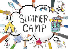 Summer Camp Adventure Exploration Enjoyment Concept vector illustration