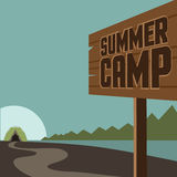 Summer camp background EPS 10 vector Royalty Free Stock Photography