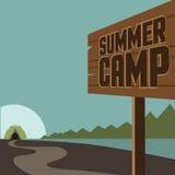 Summer camp background EPS 10 vector. Royalty free stock illustration for ad, promotion, poster, flier, blog, article, social media, marketing stock illustration