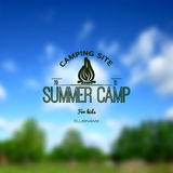 Summer camp badges logos and labels for any use Royalty Free Stock Image