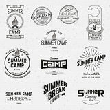 Summer camp badges logos and labels for any use Stock Images