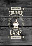 Summer camp badges logos and labels for any use royalty free illustration
