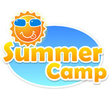 Summer camp banner Stock Photography