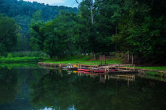 Summer camp boat dock Royalty Free Stock Image