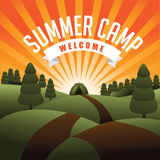 Summer camp burst EPS 10 vector Royalty Free Stock Images