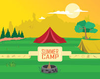 Summer Camp Clipart Vector Stock Images