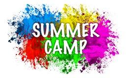 Summer camp color splat. An illustration of the text 'summer camp' on a color splash background vector illustration