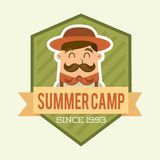 Summer camp design Stock Images