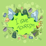 Summer camp - doodles elements Royalty Free Stock Photos