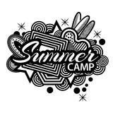 Summer Camp doodles.  Vector Illustration on white background. EPS file available. see more images related Stock Image