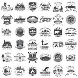 Set of extreme adventure badges. Concept for shirt or logo, print, stamp or tee. Royalty Free Stock Photos
