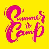 Summer Camp hand drawn vector lettering. Modern brush calligraphy royalty free illustration