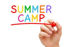 Summer Camp Handwritten Colorful Concept royalty free stock photo