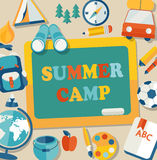 Summer camp illustration. Stock Photography