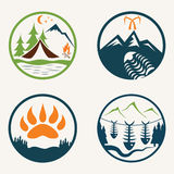 Summer camp labels Royalty Free Stock Photo