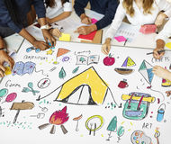 Summer Camp Learning Exploration Outdoors Concept Stock Photos