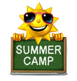 Summer Camp Message stock illustration