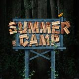 Summer Camp Nature Sign royalty free illustration